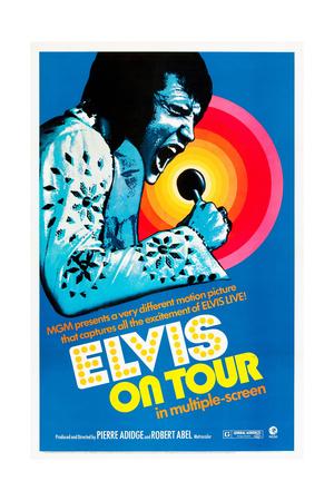 ELVIS ON TOUR, Elvis Presley on US poster art, 1972. Posters