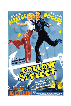 FOLLOW THE FLEET, Ginger Rogers, Fred Astaire, 1936 Prints