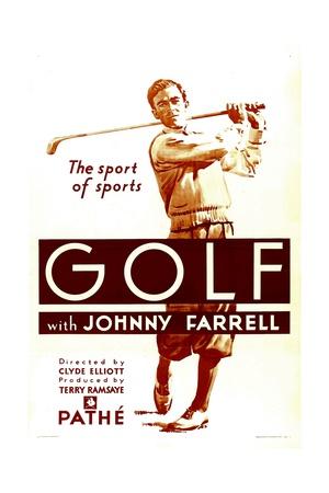 GOLF, Johnny Farrell, 1930. Prints