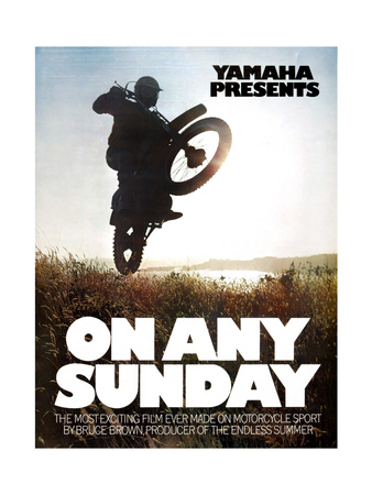 ON ANY SUNDAY, 1971. Poster