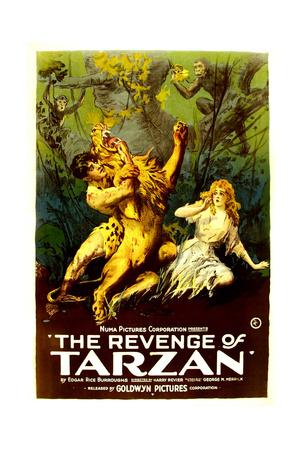THE REVENGE OF TARZAN, from left: Gene Pollar, Karla Schramm, 1920 Posters
