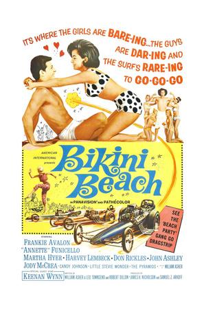 BIKINI BEACH, Poster Art, Frankie Avalon, Annette Funicello, 1964 Posters