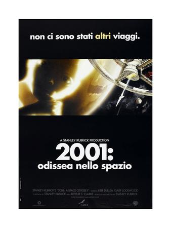 2001: A SPACE ODYSSEY, (aka 2001: ODISSEA NELLO SPAZIO), Italian poster, 1968 Print