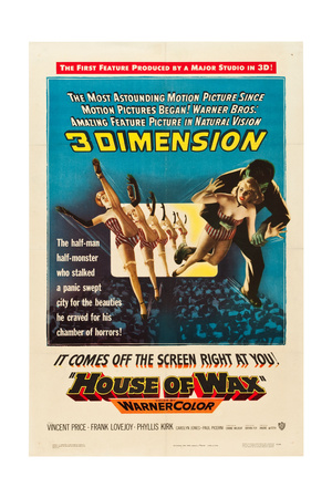 House of Wax, one-sheet poster art, 1953 Posters