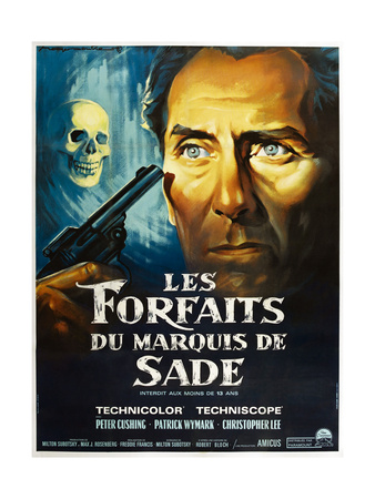 The Skull, French poster, Peter Cushing, 1965 Prints