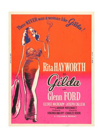 GILDA, Rita Hayworth on US poster art, 1946 Posters