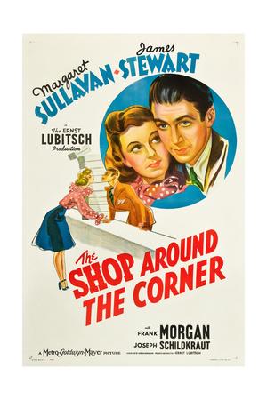 THE SHOP AROUND THE CORNER, from left: Margaret Sullavan, James Stewart, 1940 Posters