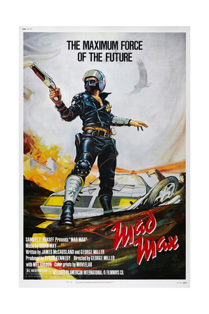 Mad Max, US poster, Mel Gibson, 1979. © American International/courtesy Everett Collection Posters