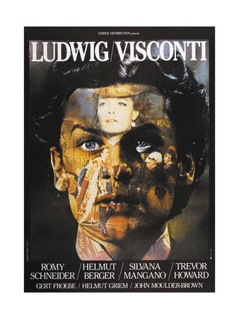 LUDWIG, French poster, Helmut Berger, Silvana Mangano, 1972 Art