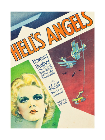 HELL'S ANGELS, Jean Harlow on window card, 1930. Prints