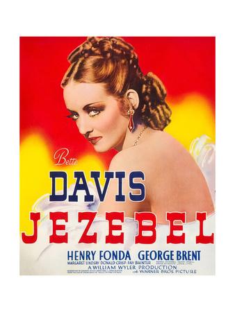 JEZEBEL, Bette Davis on window card, 1938. Art