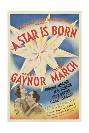 A STAR IS BORN, from left: Janet Gaynor, Fredric March, 1937. Posters