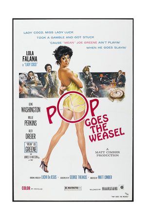 POP GOES THE WEASEL, US poster, Lola Falana, 1975 Prints