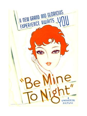 BE MINE TONIGHT (aka TELL ME TONIGHT), midget window card, 1932. Posters
