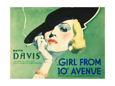 THE GIRL FROM 10TH AVENUE, Bette Davis on title card, 1935. Prints