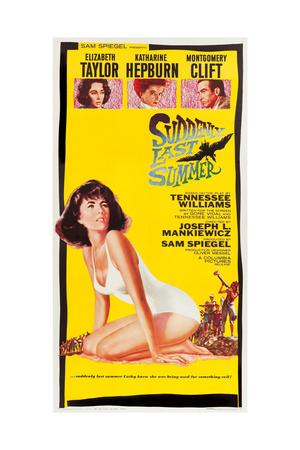 Suddenly Last Summer, Elizabeth Taylor, Katharine Hepburn, Montgomery Clift, 1959 Prints