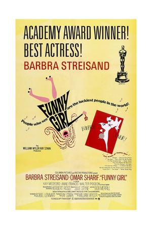 FUNNY GIRL, US poster, from left: Barbra Streisand, Omar Sharif, 1968 Print