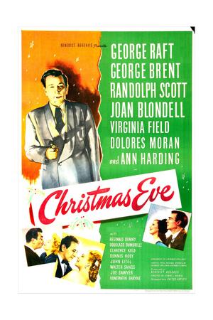 CHRISTMAS EVE, US poster, George Raft, Prints