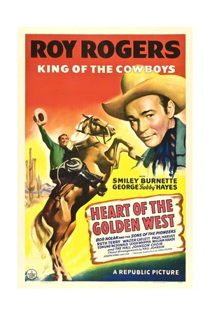 HEART OF THE GOLDEN WEST, Roy Rogers, 1942. Poster