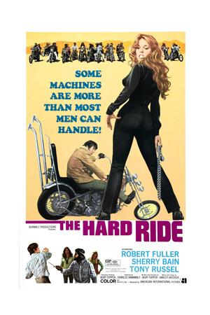 THE HARD RIDE,  (from left): Robert Fuller, Sherry Bain, 1971. Prints!