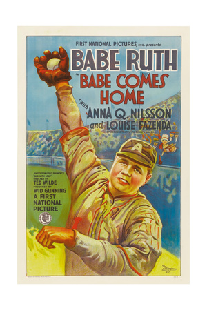 BABE COMES HOME, Babe Ruth, style 'A' poster, 1927. Posters