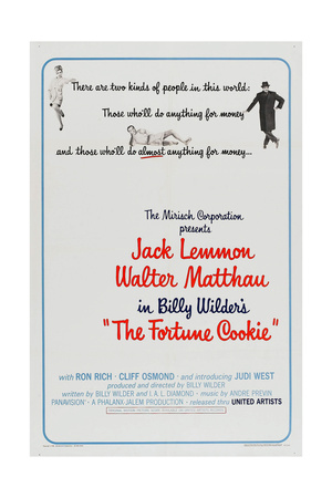 THE FORTUNE COOKIE, US poster, from left: Judi West, Jack Lemmon, Walter Matthau, 1966 Posters