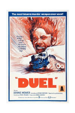 DUEL, New Zealand poster, Dennis Weaver, 1971 Prints