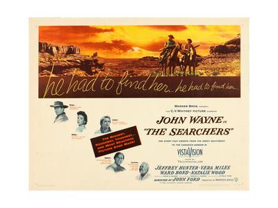 THE SEARCHERS, John Wayne, Natalie Wood, Vera Miles, Jeffrey Hunter, Ward Bond, 1956 Posters