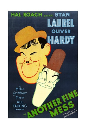 ANOTHER FINE MESS, Oliver Hardy, Stan Laurel [Laurel and Hardy], 1930 Print