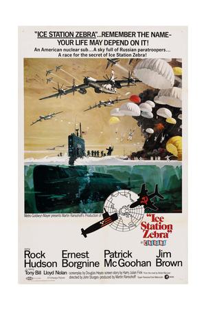 ICE STATION ZEBRA, US poster, 1968 Prints