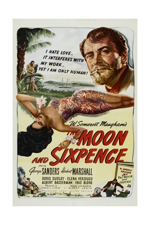 THE MOON AND SIXPENCE, from left: Elena Verdugo, George Sanders, 1942. Art