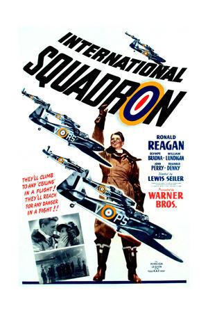 INTERNATIONAL SQUADRON, Ronald Reagan (center), 1941. Posters