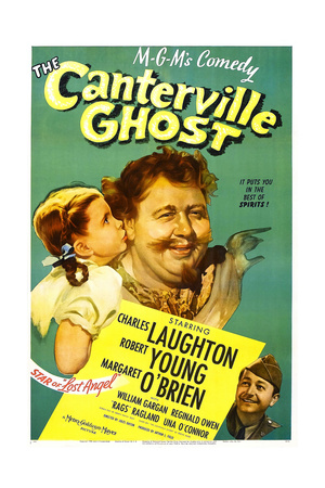 THE CANTERVILLE GHOST, US poster, Margaret O'Brien, Charles Laughton, Robert Young, 1944 Prints