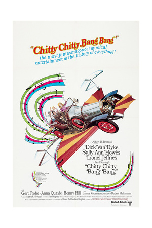 Chitty Chitty Bang Bang Dick van Dyke Sally Ann Howes 1968 vintage movie poster