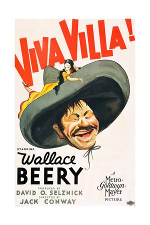 VIVA VILLA!, Wallace Beery on poster art, 1934. Prints