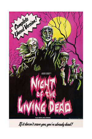 NIGHT OF THE LIVING DEAD, US poster art, 1968. Posters