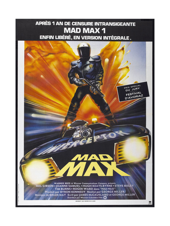 Mad Max, French poster, 1979. © Warner Bros./courtesy Everett Collection Art