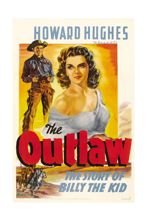 THE OUTLAW, Jack Buetel, Jane Russell, 1943. Posters