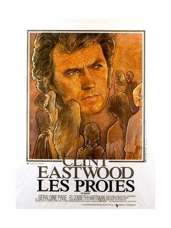 THE BEGUILED, (aka LES PROIES), French poster, Clint Eastwood, 1971 Art
