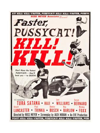 Faster, Pussycat! Kill! Kill!, Paul Trinka, Tura Satana, Lori Williams, Haji, 1965 Prints