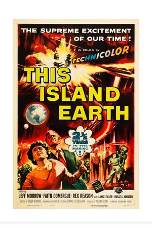 THIS ISLAND EARTH, Faith Domergue, Rex Reason, Jeff Morrow, 1955 Prints