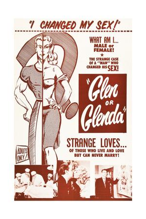 GLEN OR GLENDA, Edward D. Wood Jr., Dolores Fuller, Timothy Farrell, 1953 Prints