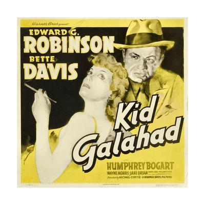 KID GALAHAD, Bette Davis, Edward G Robinson on jumbo window card, 1937 Posters