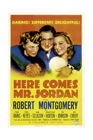 HERE COMES MR. JORDAN, Rita Johnson, Robert Montgomery, Evelyn Keyes, 1941 Prints