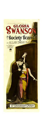 A SOCIETY SCANDAL, from left: Rod La Rocque, Gloria Swanson, 1924. Poster