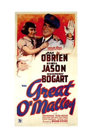 THE GREAT O'MALLEY, top from left: Sybil Jason, Pat O'Brien, 1937 Prints