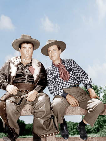 RIDE 'EM COWBOY, from left: Lou Costello, Bud Abbott [Abbott and Costello], 1942 Photo