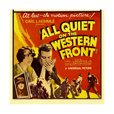 All Quiet on the Western Front, Lew Ayres, 1930 Print