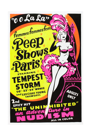FRENCH PEEP SHOW, poster art, 1954 Posters