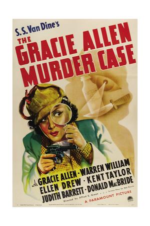 THE GRACIE ALLEN MURDER CASE, Gracie Allen, 1939 Prints